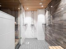 Taloyhtiön saunaosaston pesutilat