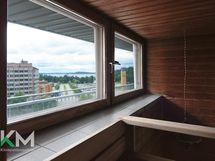 Taloyhtiön saunasta näkymät Vesijärvelle