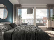 Kaikissa asunnoissa lasitettu parveke tai asuntopiha.