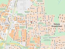 Kaupunkikartalla Metsolantie 19