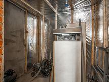 saunassa on jo alumiinipaperit seinässä