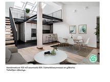 Havainnekuva yhtiön toisesta samantyyppisestä asunnosta jossa on yläkerta