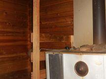 Sauna, puulämmitys