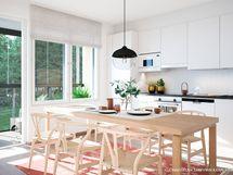 Luonnoskuva asunnon C11 keittiöstä