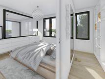 B9 makuuhuone, sisustusmaailma OPAALI (havainnekuva)