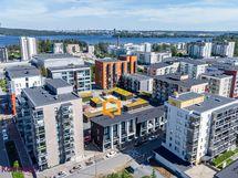 Ilmakuva Tampereen keskustan suuntaan, Pyhäjärvi