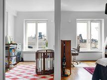 Makuuhuoneet sisäpihan kattonäkymin