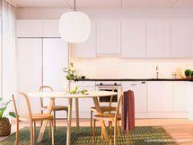 Luonnoskuva asunnon C10 keittiöstä