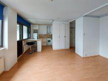 Olohuone ja keittiötä