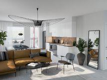 Viitteellinen kuva 55,0 m2 asunnosta.