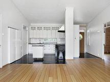 Olohuone/keittiö- vardagsrum/kök