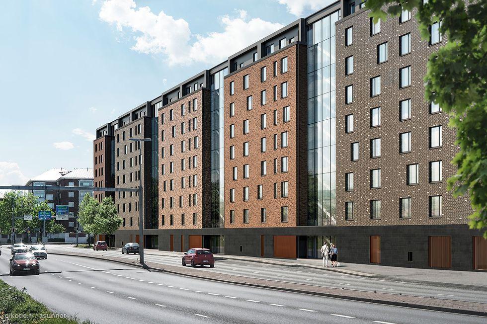 Moderni ja viihtyisä talo rakentuu erinomaiselle paikalle lähelle Verkahovin historiallista tehdasrakennusta, jokirantaa ja Turun keskustaa.