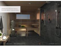Taloyhtiön sauna ylimmässä kerroksessa