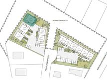 Asemapiirros, huoneiston sijainti merkittynä (havainnekuva)