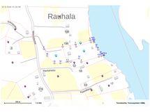 Tilat Kuusikko ja Kuusikonlisä on merkattu sinisillä täplillä karttaan