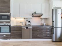 Keittiössä modernit kodinkoneet