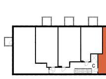 Asunnon C57 sijainti kerroksessa