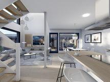 Havainnekuva 99 m² huoneistosta