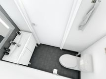 Erillinen wc musta