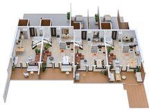 B-talon 3D kerrospohja 1.krs, suuntaa-antavana myös A-taloon