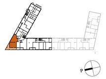 Asunnon B44 sijainti kerroksessa