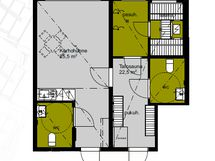 Kerhotilan ja talosaunan pohjakuva