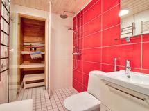 Moderni laatoitettu kylpyhuone