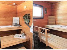 Tilava sauna ei mahtunut kokonaan samaan kuvaan.