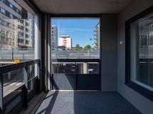 Valokuva asunnon parvekkeelta