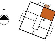 Asunnon 23 sijainti kerroksessa