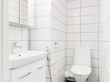 Erillinen wc, joka myös remontoitiin putkiremontoitin yhteydessä.