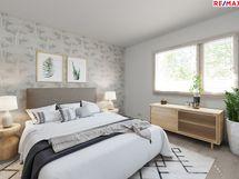 Virtuaalistailattu makuuhuone Mh2