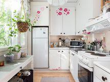 Näpsäkkä pikku keittiö, kaikki käden ulottuvilla