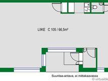 Pohjakuva 68,5 m2 LT C 105