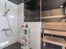 piharakennuksen pesuhuone-sauna