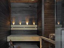 Asunnon tunnelmallinen sauna