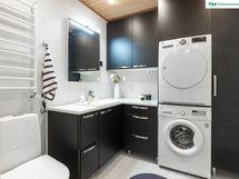 Kylpyhuonetta on päivitetty vuonna 2019 - pesutorni jää ilahduttamaan myös uutta omistajaa