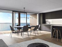 Huoneistoissa on laadukkaat ja tyylikkäät keittiöt