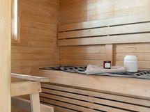 Äskettäin uusittu saunan sisustus
