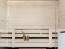 Taloyhtiön vaalea sauna
