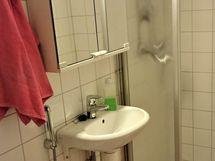 Kylpyhuoneessa kaikki perusmukavuudet