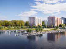 Espanranta ja Puistokortteli Näsijärveltä
