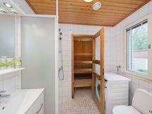 Sauna ja peseytymistilat sekä wc