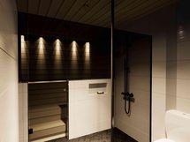 Sauna ja suihkutilaa (havainnekuva)