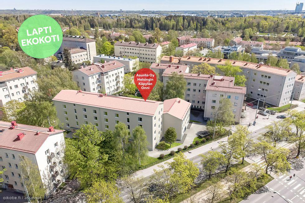Käpylän Onnin kaikki asunnot ovat Lapti Ekokoteja. Viitteellinen kuva kohteesta.