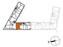 Asunnon A14 sijainti kerroksessa