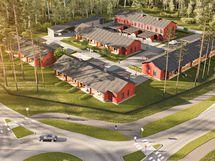 Taloyhtiössä on neljä yksikerroksista rivitaloa sekä yksi kaksikerroksinen rivitalo.