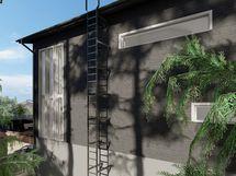 Luonnos rakennusluvan mukaisesta talosta