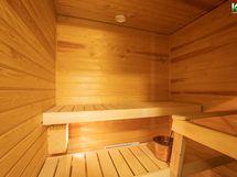Sauna on kuin melkein uusi.