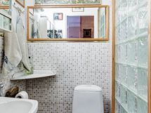 Erillinen wc, jossa uusittu wc-istuin 2021
